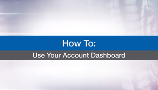 Use Your Account Dashboard