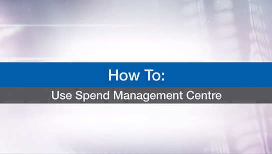 Use Spend Management Center